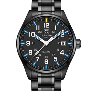 Men's Tritium Business Watch - Quartz-Tritium Watch-Online GMall-black white blue-Online GMall