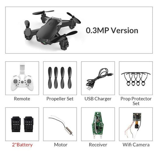 Mini Drone With Camera-Drones-Online GMall-blue0.3mp3battery-China-Online GMall