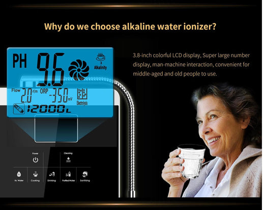 Alkaline Water Ionizer Machine- Touch Functional Button - Online GMall