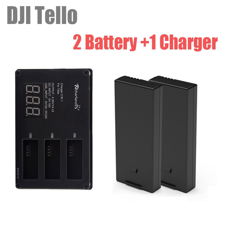 DJI tello Lipo Battery + 3 Way Fast Charging Hub Batteries Charger