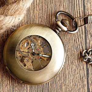 Self Wind Pocket Watch-Online GMall-Online GMall