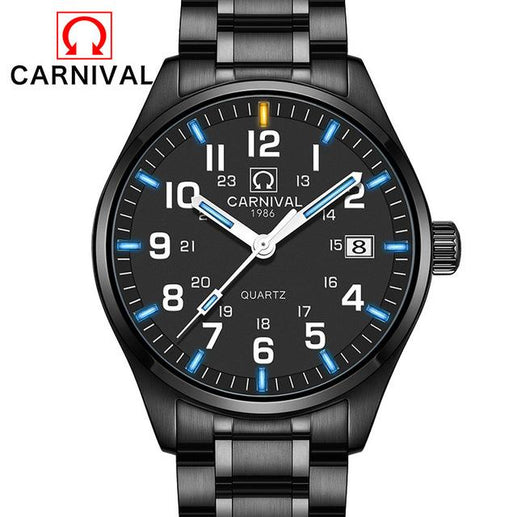 Tritium Watch for Men-Tritium Watch-Online GMall-full black blue-Online GMall