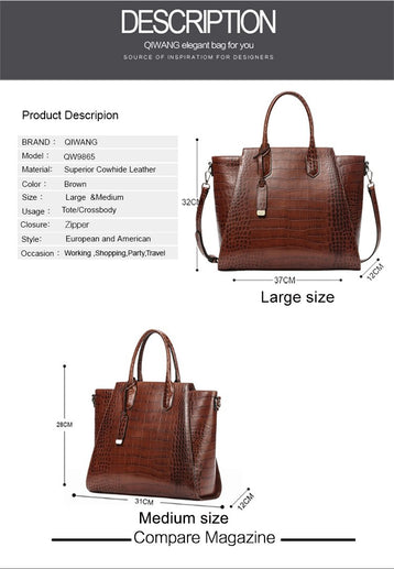 Women's Genuine Leather Bag-Bag-Online GMall-9865 Large-China-Online GMall
