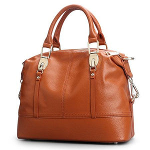 Women's Genuine Leather Bags-Leather Bag-Online GMall-8203 brown-China-Online GMall