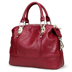 Women's Genuine Leather Bags-Leather Bag-Online GMall-8203 burgundy-China-Online GMall