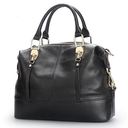 Women's Genuine Leather Bags-Leather Bag-Online GMall-8203 black-China-Online GMall