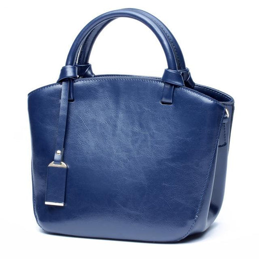 Women's Genuine Leather Handbag-Bag-Online GMall-blue handbag-China-23cm-Online GMall
