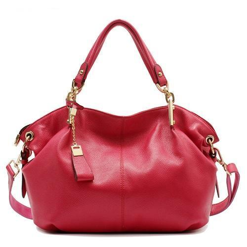 Women's Genuine Leather Handbag-Handbag-Online GMall-8136 hot pink-China-(30cm<Max Length<50cm)-Online GMall