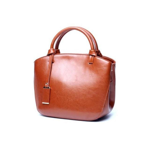 Women's Genuine Leather Handbag-Bag-Online GMall-brown handbag-China-23cm-Online GMall