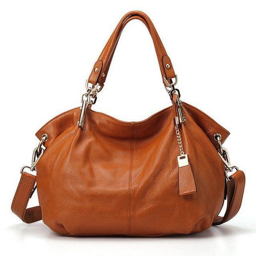 Women's Genuine Leather Handbag-Handbag-Online GMall-8136 brown-China-(30cm<Max Length<50cm)-Online GMall
