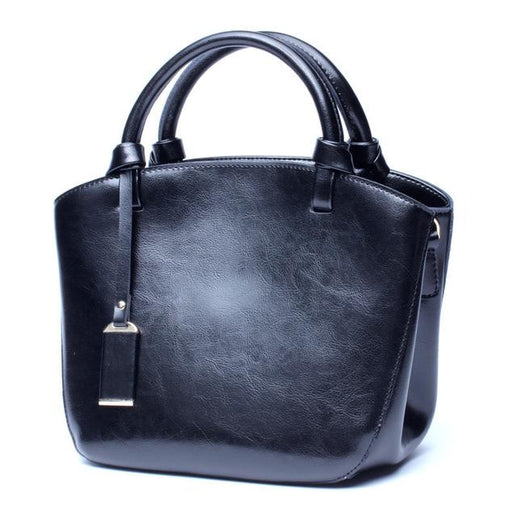 Women's Genuine Leather Handbag-Bag-Online GMall-black handbag-China-23cm-Online GMall
