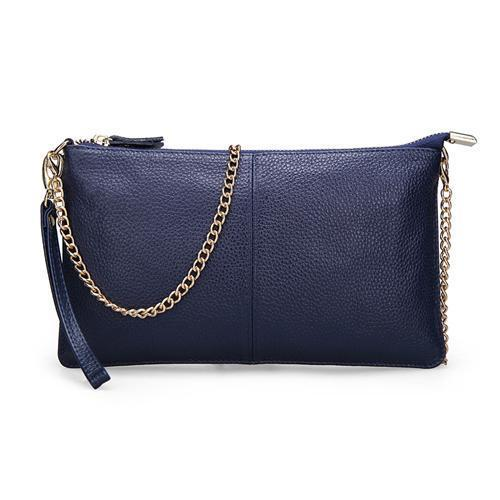 Women's Leather Handbags-Handbag-Online GMall-Sapphire blue-China-Online GMall