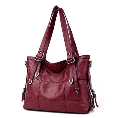 Women's Luxury Handbag-Handbag-Online GMall-burgundy-China-35x13x25cm-Online GMall