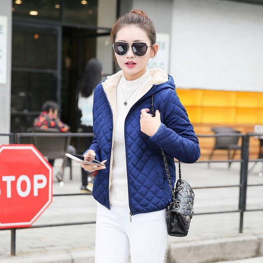 Women's Winter Jacket-Winter Jacket-Online GMall-Blue-S-Online GMall