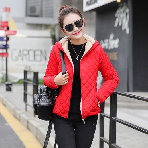Women's Winter Jacket-Winter Jacket-Online GMall-Red-S-Online GMall