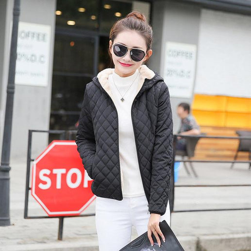 Women's Winter Jacket-Winter Jacket-Online GMall-Black-S-Online GMall