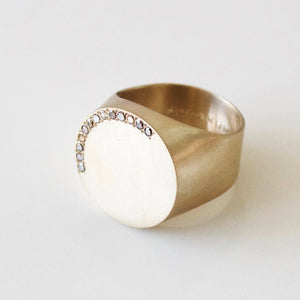 Signet Ring Large with Diamonds