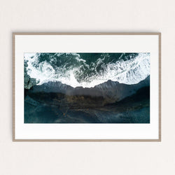 Framed Black Beach