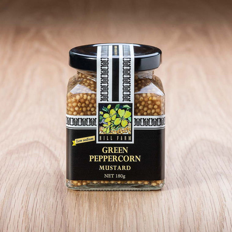 180g jar of Green Peppercorn Seeded Mustard Paste