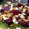 Warm Beetroot and Feta Salad with cumin infused canola oil