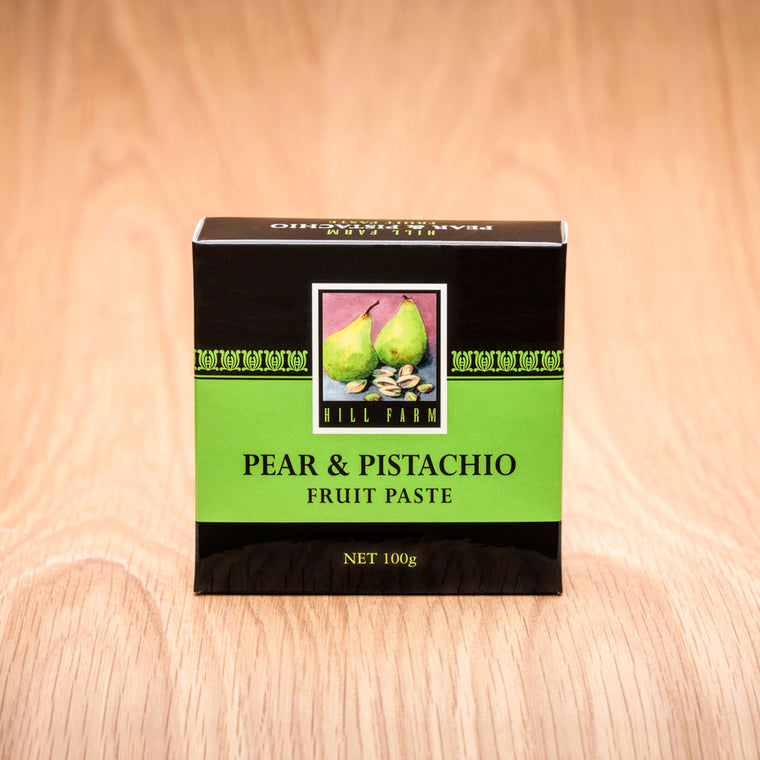 100 gram box of Pear and Pistachio Fruit Paste