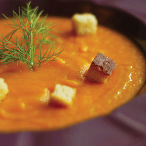 Carrot Puree With Seasoned Croutons