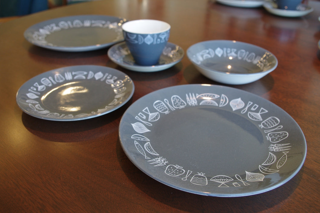 Crown Lynn dinner set Retro Mid-Centry Warkworth