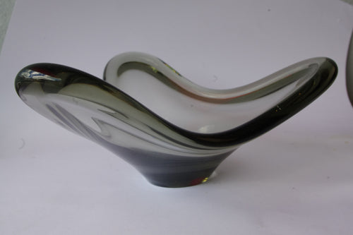 HOLMEGAARD GLASS BOWL - SMOKEY GREY