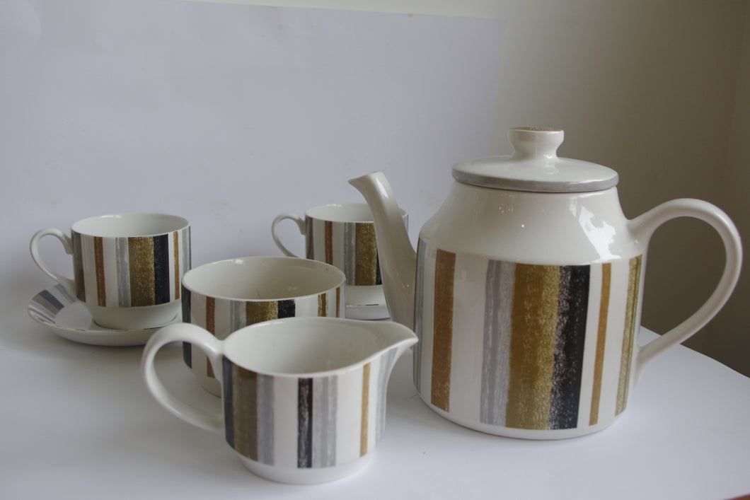 MIDWINTER QUEENSBURY STRIPE COFFEE SET