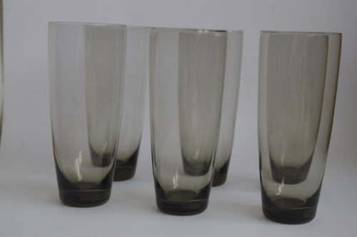 SMOKEY GLASS TALL TUMBLERS