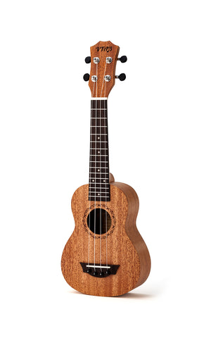 VTAB Full Mahogany Soprano Ukulele with Gig-Bag