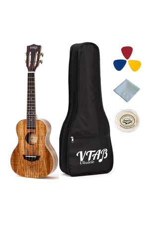 VTAB Deadwood Glossy Concert Ukuleles with Case