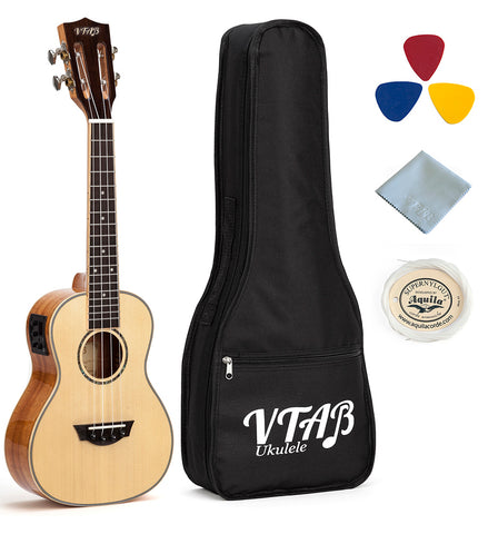 VTAB TS-Series EQ/Tuner Concert Ukuleles with Case