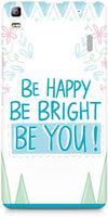 Be Happy Quote Mobile Covers for Lenovo K3 Note