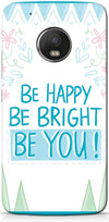 Be Happy Quote Mobile Cases for Motorola Moto G5 Plus