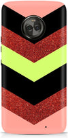 Glitter Stripes Designer Case For Motorola Moto X4