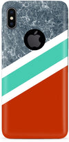 Stripes with Marble Mobile Cases for iPhone X