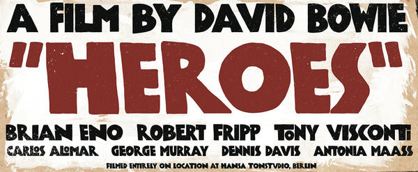 Bowie Heroes Poster
