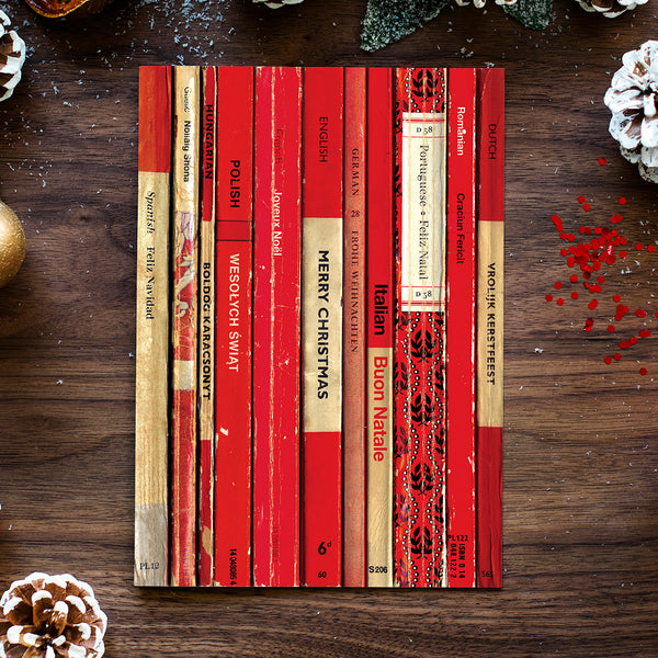European Christmas Cards Made With Vintage Penguin Books