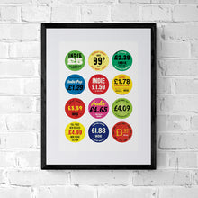 Indie Music Poster - Record Store Price Tag Sticker Collection