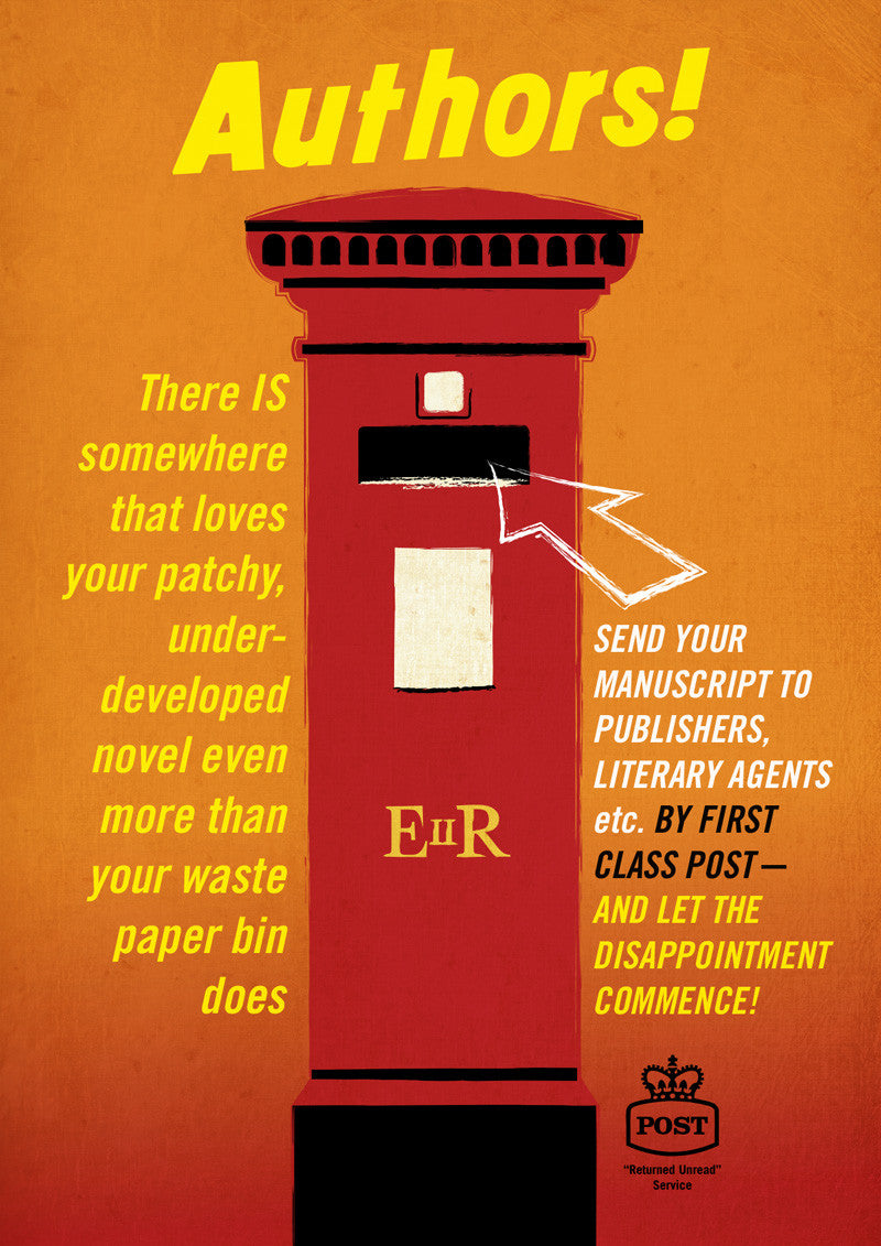 'Authors!' Advice For Writers Post Box Poster Print