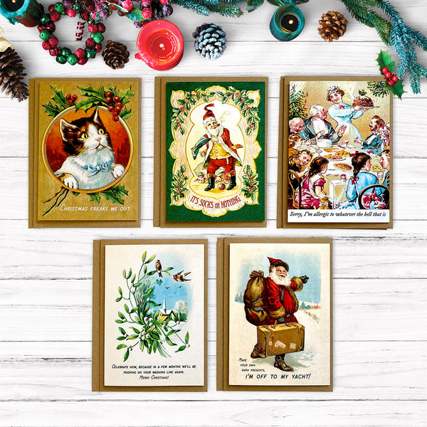 Funny Vintage Christmas Cards