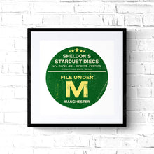 Minimalist Pop Art Style Manchester Band Poster Print