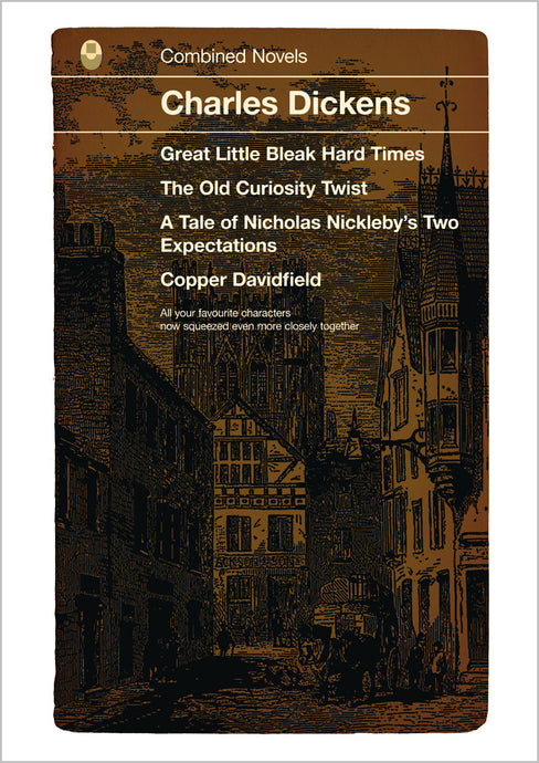 Charles Dickens Combined Works Book Cover Print