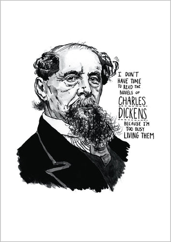 Charles Dickens Portrait Poster Print