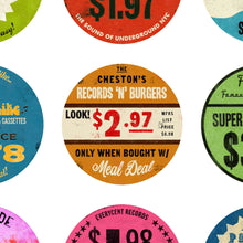 Album Cover Art Print: Collection of Record Store Price Tag Stickers