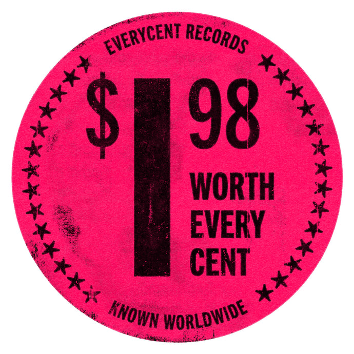 Album Cover Art: 'Everycent Records' Record Store Price Tag Sticker Print