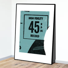 High Fidelity 45 RPM Record Cover Print