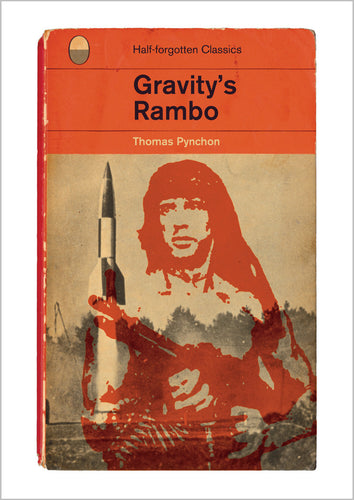 Thomas Pynchon Gravity's Rainbow or Rambo Book Cover Poster Print