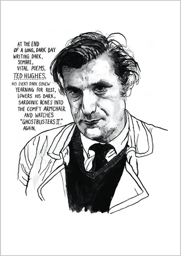 Ted Hughes Portrait Poster Print
